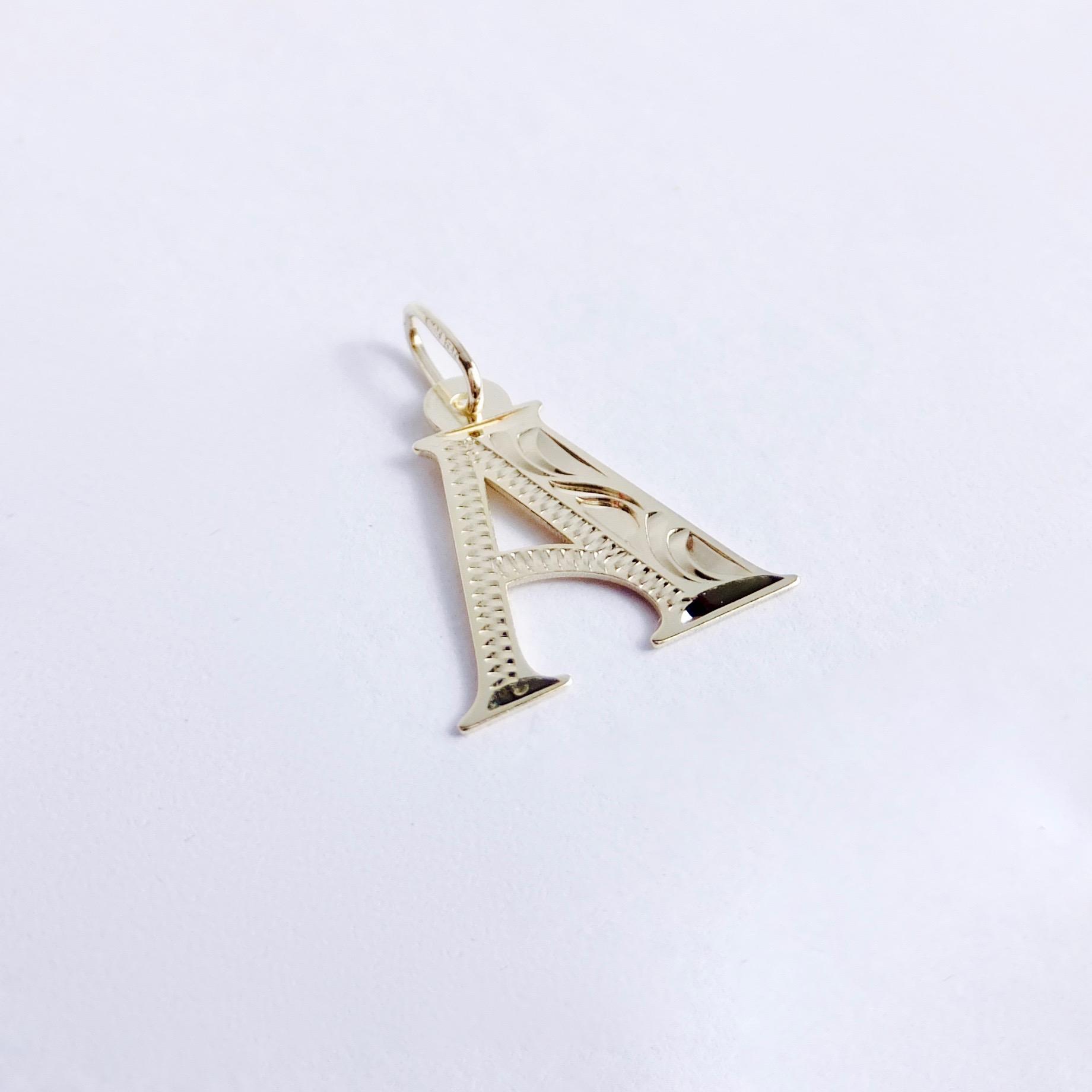 811dd7ed5 Zlatý přívěšek písmeno A, 14K 585/1000, váha 0,40 g